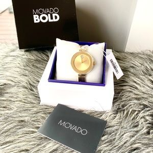 NWT authentic MOVADO Bold gold watch